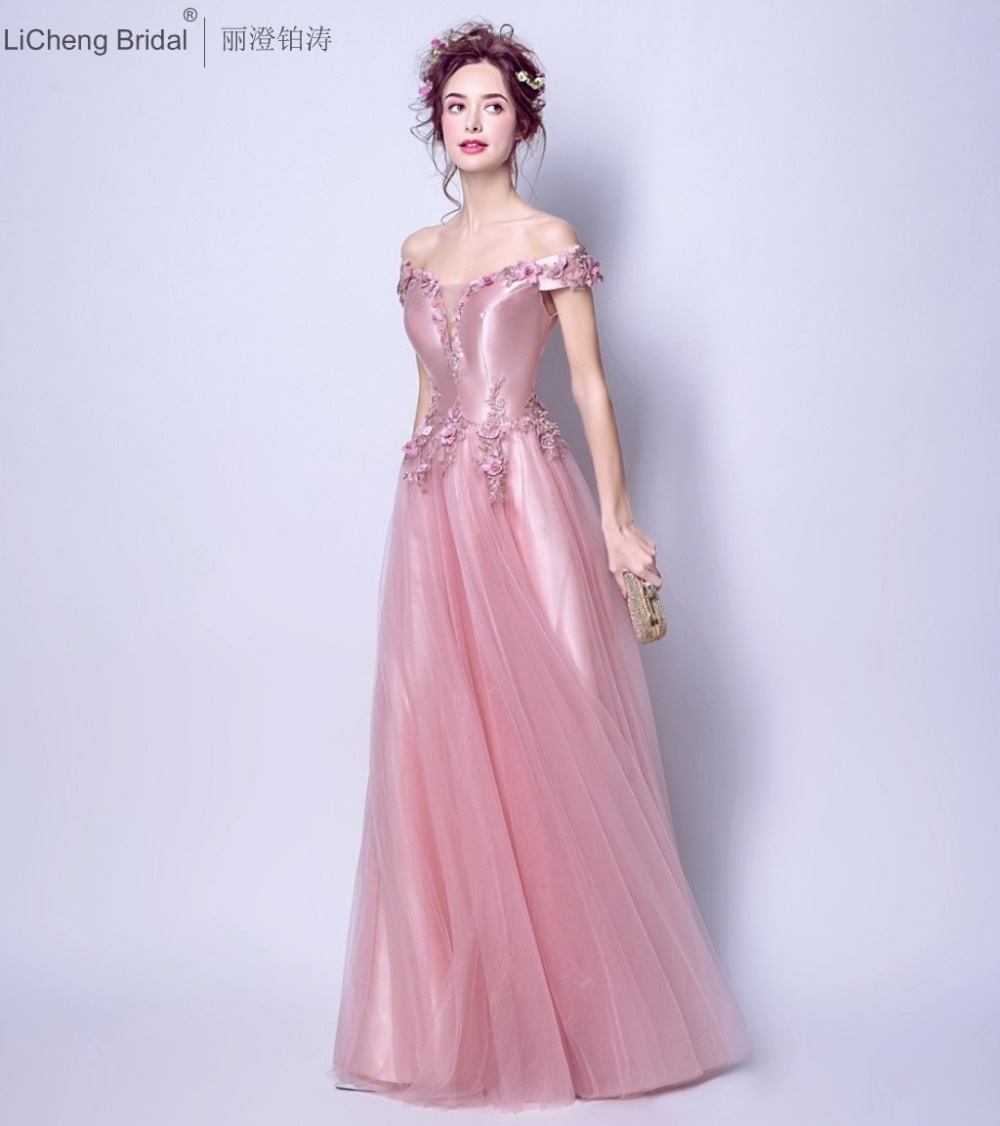 Aliexpress buy fast shipping pink bridesmaid dress long aliexpress buy fast shipping pink bridesmaid dress long beaded appliques women dress backless off shoulder party dresses 2017 robe de soiree from ombrellifo Images
