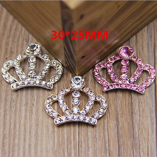 10pcs/lot 30*25mm Rhinestone Tiara Crown Embellishment Ornament For DIY Accessories Craft Supplies