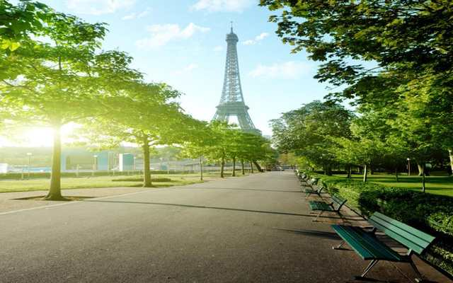 Home Decoration 3d Nature Wallpapers Paris Eiffel Tower Street