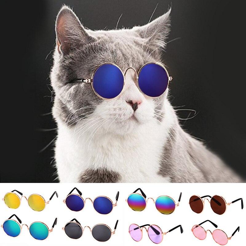 IVYSHION 1pc Lovely Cat Glasses Dog Glasses font b Pet b font Products For Little Cat