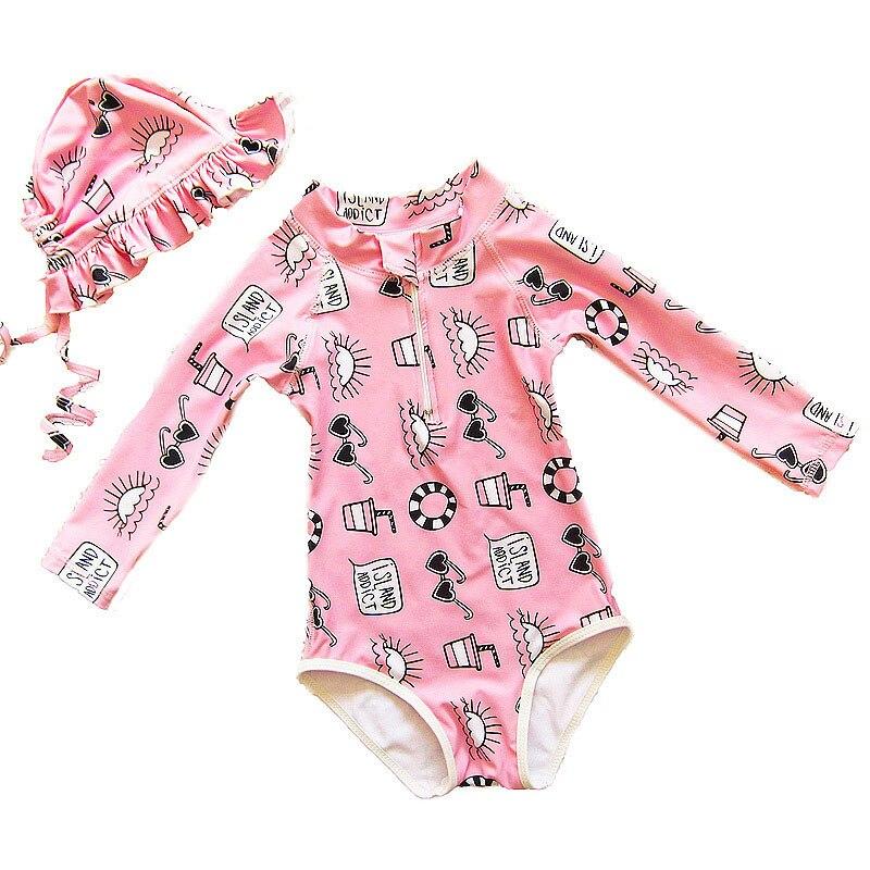 Sommer Baby Mädchen Bikini Kinder 3 Pcs Schwimmen Kleidung Sets Kinder Strand Kleid Bademode Kleine Prinzessin Badeanzüge Abdeckung-ups 2019 Babykleidung Mädchen