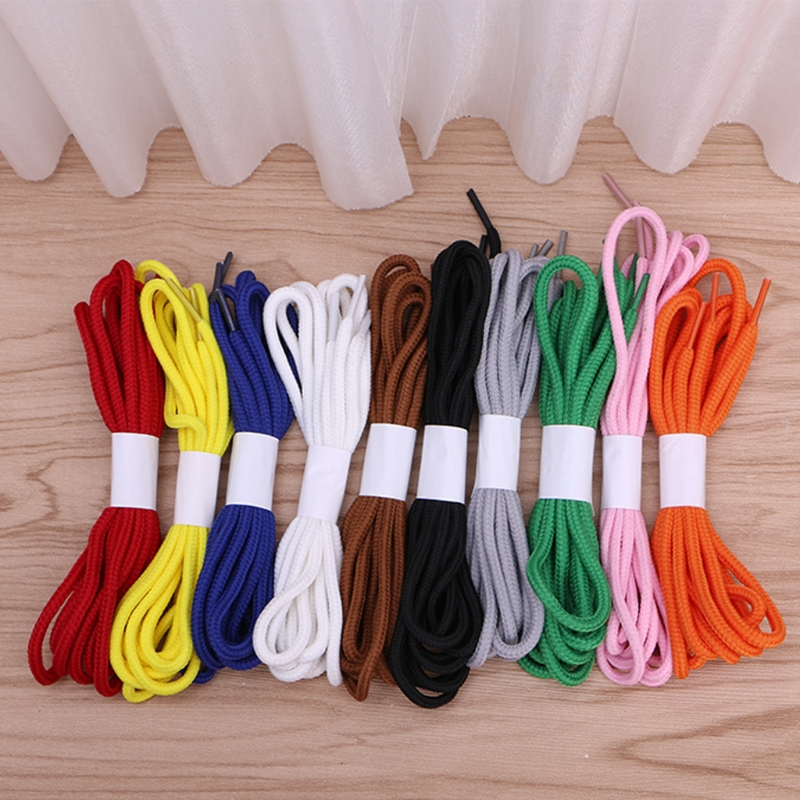 Women Men 140cm Round Pure Shoelace Strings Various Color Sports Athletic Sneakers Strings General Use Solid New 2017 double side bowknot shoe strings ribbon shoelace smooth for general use 10 colors colorful terylene pure solid 1 2cm new