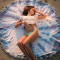 New 1500mm Reactive Printed Round Hippie Tapestry Beach Throw Roundie Mandala Towel Serviette De Plage Adulte Toallas Beach