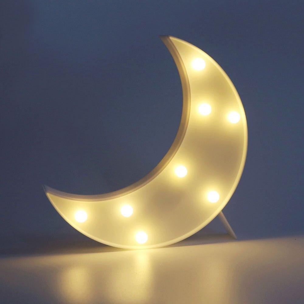 Night lights nursery - Lumiparty Decorative Led Crescent Moon Marquee Sign Night Light Moon Marquee Letters Lights Nursery Night Lamp