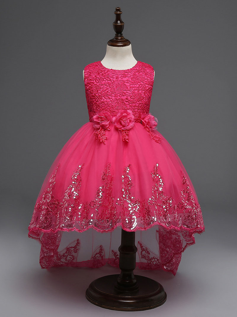 71ffebc6013ed US $15.67 30% OFF Purple Princess Girls Dress Baby Cloth Dress Children  Party Wedding Dresses Fashion Cloth Flower For Big Birls 4 12T Children-in  ...