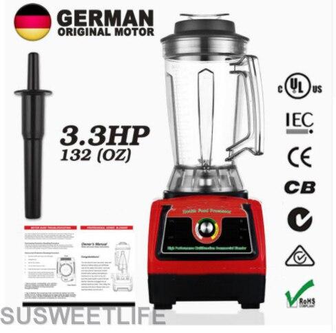 BPA Free G7400 3.3HP 2800 Watt Professional ice shave machine High Speed slow juicer System Black 3.9L 57000 peak