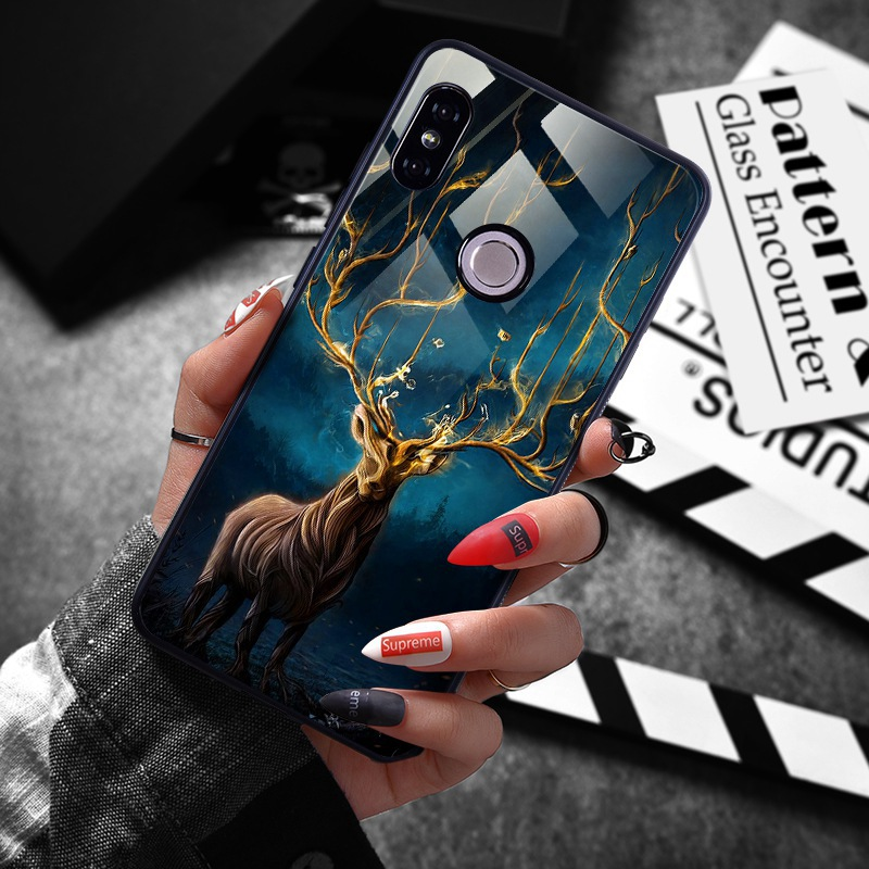 note 5 phone cases Tempered Glass Case For Xiaomi Redmi Note 5 5 Pro 5 Plus Note 4X Case Luxury Animal Pattern Case For Xiaomi Mi 8 A1 5X Coque (7)