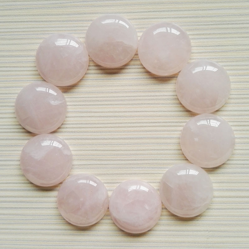 fashion Quartz Rose 20MM 20PC Natural Stone round Beads for jewelry making Charm cab cabochon Earrings, necklace accessories