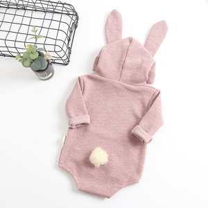Image 3 - MILANCEL New Baby Clothing Rabbit Baby Bodysuits Bunny Ear Infant Outfit Cotton Boys Bodysuit Long Sleeve Baby Clothes