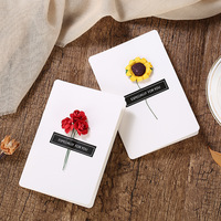 Dried Flower Invitation Card Creative Handmade DIY Mother's Day Greeting Card Valentine's Day 520 Message Card Birthday Card