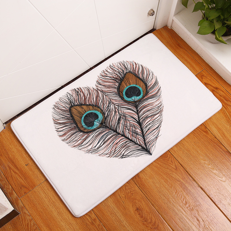 Zeegle Dust Proof Door Mats Outdoor Bird Printed Area Rug For Living