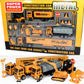 1:50 Pull Back Alloy Car Engineering Truck Model sets Excavators Cement Concrete Mixer Dumpers Diecasts Toy Vehicles for Boys