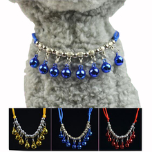 Cat Bell Collar Safety Adjustable with Soft Rope Cat Accessories Neck Sash Small Bell Collar Leash Rope For Cat Supplies Pets