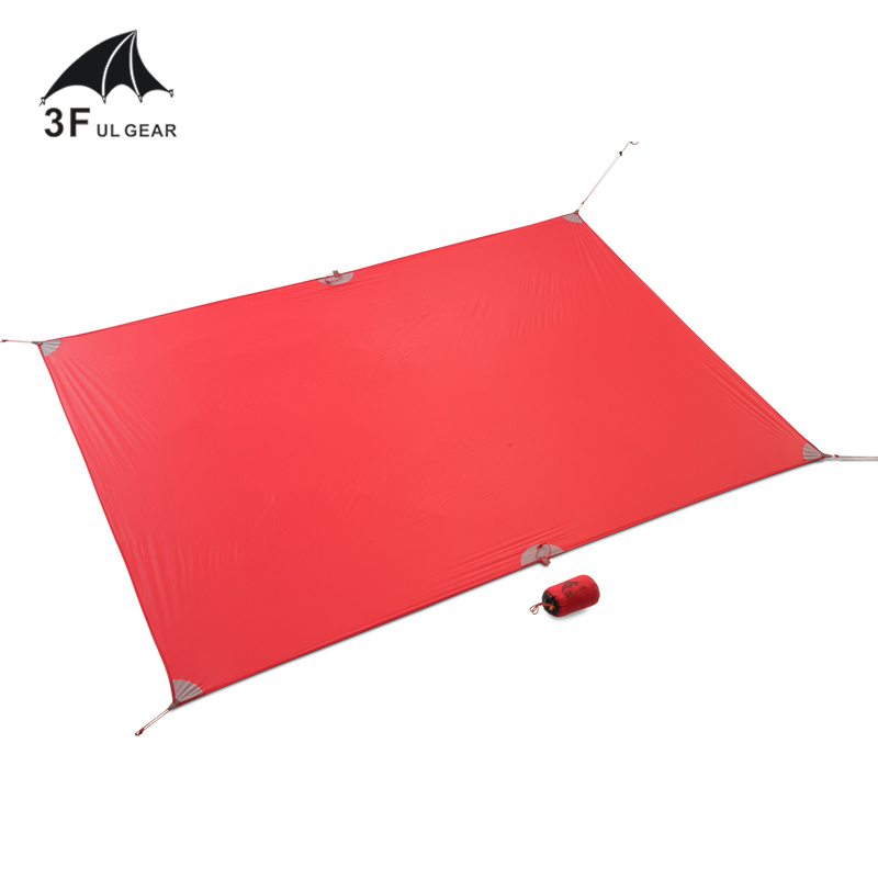 цена на 3F UL Gear Ultralight Tarp Lightweight MINI Sun Shelter Camping Mat Tent Footprint 20D Nylon Silicone 195g Tenda Para Carro