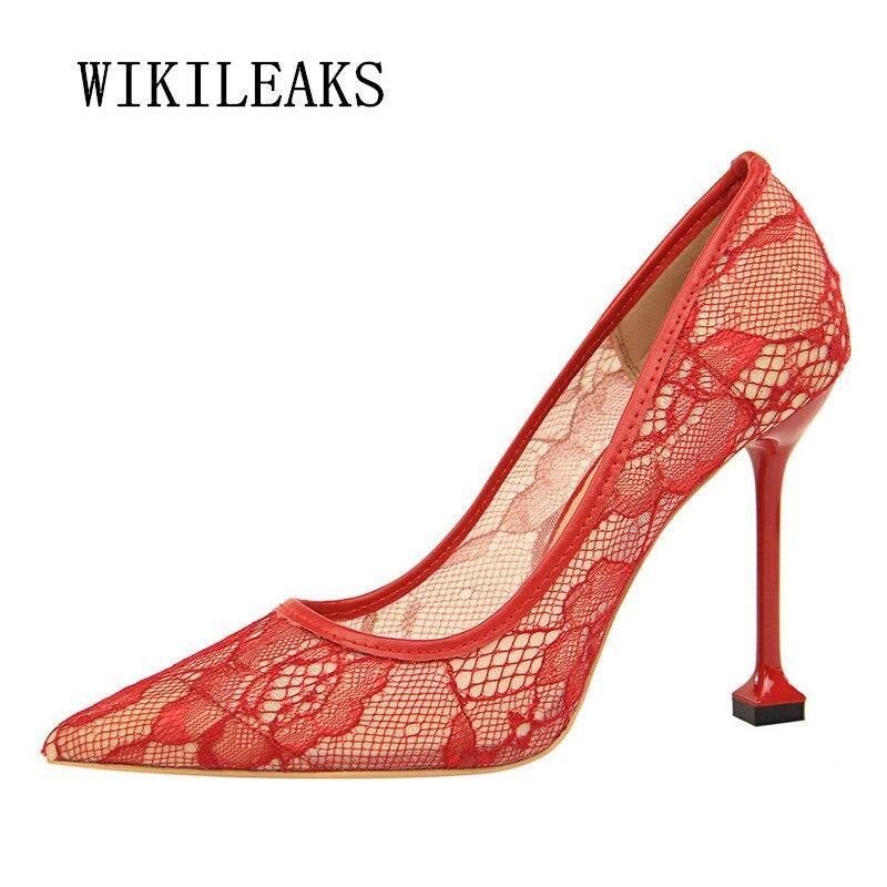 1 6 Sexy Ol Marca 3 Mujer Heels 5 Nupcial Tacones 7 Zapatos De Boda Bordar Mujeres Saltos Las Bombas 2018 Altos Extreme High 2 Rojo Fetiche Lujo 4 w1nqFO