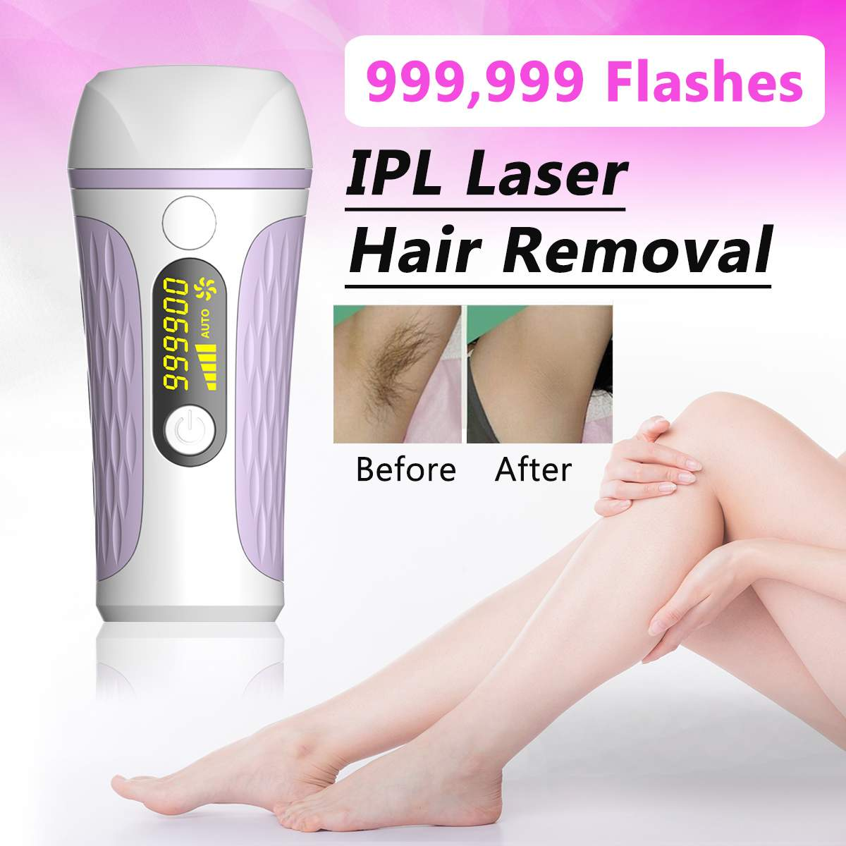 999999 Flash 36W Professional IPL Epilator Laser Hair Removal Photoepilator Machine Depilation 5 Light Energy Levels Device