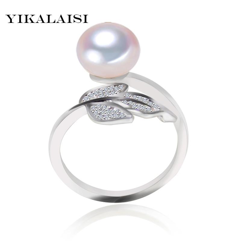 YIKALAISI 925 sterling zilver Natuurlijk zoetwater Oblaten Pearl Leaf - Fijne sieraden