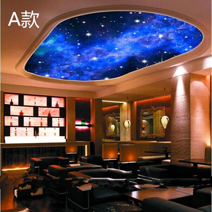 2014 real tapete papel de parede infantil star cosmic nebula ceiling space wall paper mural. Black Bedroom Furniture Sets. Home Design Ideas