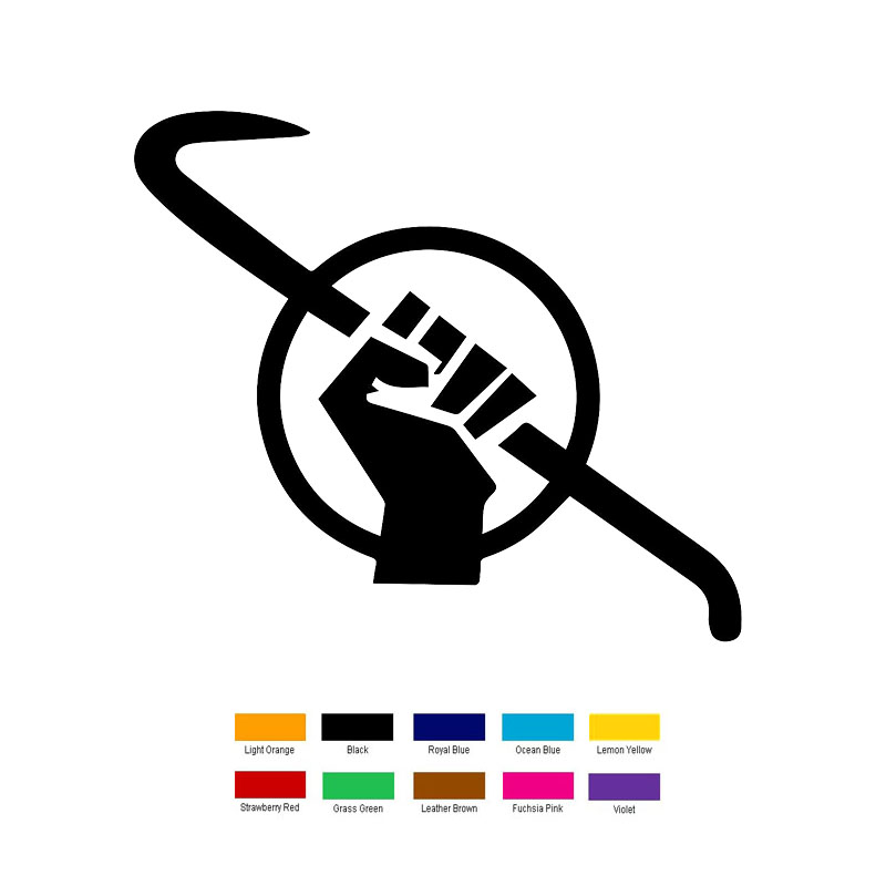 Wholesale 10 Pcslot 18cm X 9cm Half Life Freedom Symbol Car Sticker