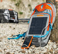Free shipping new style new motorcycle backpack with solar panels can give mobile phone charge backpack daily riding trip bag
