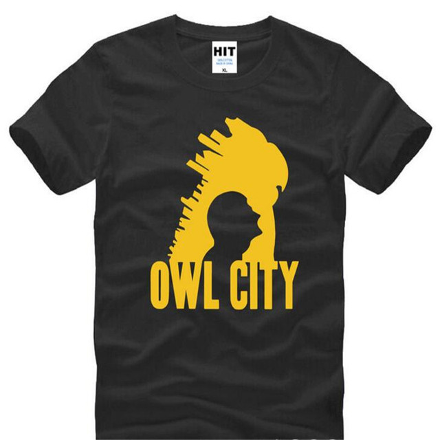 US $10 53 27% OFF|Rock Owl City Adam Young T Shirt T Shirt For Men Summer  Men's New Short Sleeve O Neck Cotton Casual Top Tee Camisetas Masculina-in