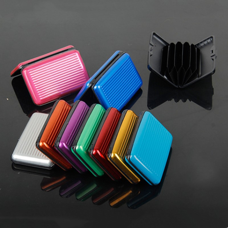 Case Wallet Id-Card-Holder Business-Credit-Card Name Metal Antimagnetic Mini Waterproof