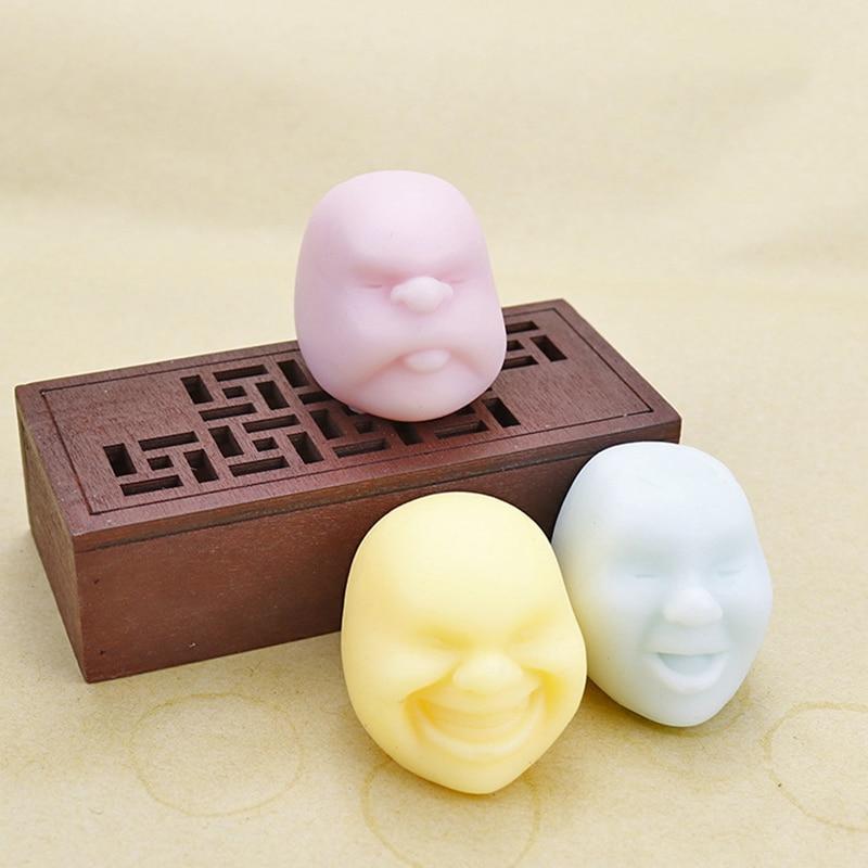 Мягкими уход за кожей лица человека Забавный мячик успокоительное уменьшить анти-стресс мяч Squeeze Моти рост расслабляет мягкий липкий, игрушка для снятия стресса, подарок
