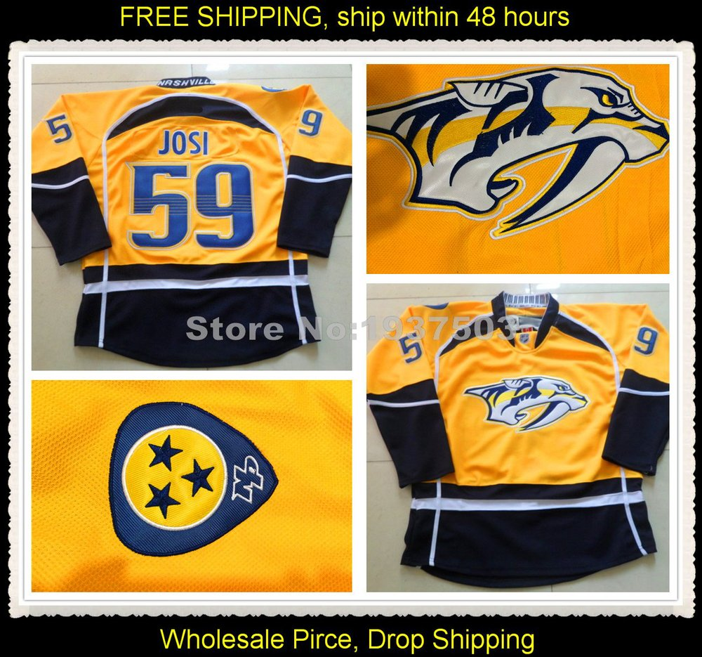 wholesale dealer fe983 3e22b Roman Josi Jersey #59 Nashville Predators Jerseys Home ...