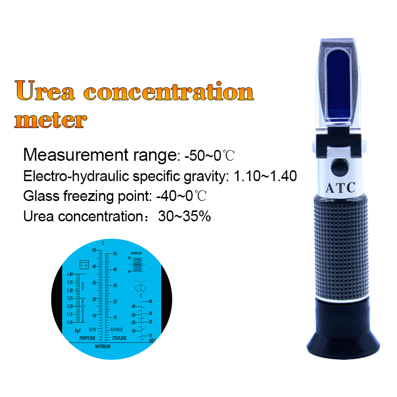ATC Glycol Refractometer Oxygen Concentration Meter Car Antifreeze Battery Acid Engine Coolant Tester