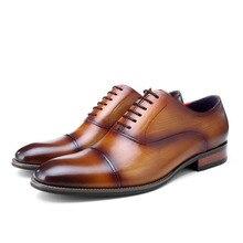 Stylish Formal Dress Shoes For Men Genuine Leather Handmade Derby Shoes Luxury Italian Wedding