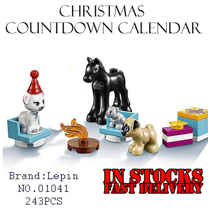 Lepin 01041 Girls Friends 243pcs Building Blocks Christmas countdown calendar Bricks educational font b toys b