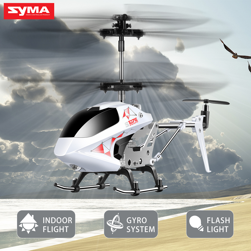 SYMA S107E 3CH 2.4GHz Indoor RC Helicopter Alloy Strong Anti-shock Remote Control Vertiplane Gift for Baby Direct Manufacturer