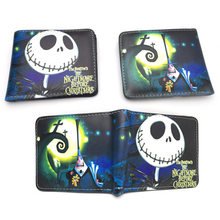 Anime Nightmare Before Christmas Wallet Jack Skellington Wallet Short Purse Bag(China)