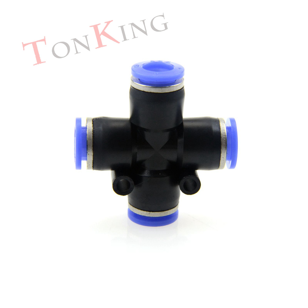Pneumatic fitting quick connector Bulkhead four Straight PZA series Pneumatic Fitting For PU nylon Hoses 1 pack Air Connector free shipping 10pcs lots brass quick connectors for 6mm hose bulkhead pipe fitting pneumatic fitting