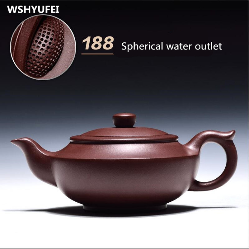 240ml100% hand-made high-quality spherical water purple teapot Xi Shi pot Yixing master production certificate240ml100% hand-made high-quality spherical water purple teapot Xi Shi pot Yixing master production certificate
