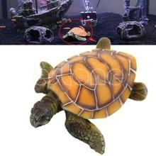 Free shipping Stylish Aquarium Ornament Polyresin Turtle Tortoise Fish Tank Decoration Supply