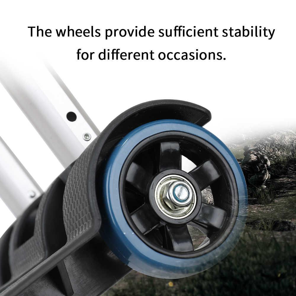 Carrito de viaje plegable portátil de dos ruedas carrito de compras remolque plano carretilla herramientas de mano