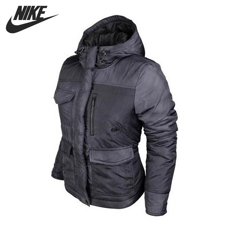 Original NIKE Women's Cotton-Padded jacket Hooded Sportswear original nike men s black knitted jacket hooded sportswear
