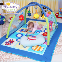 Itty Bitty Ocean Super Deluxe Light Music Play Mat Twist And Fold Activity Gym Lay And