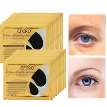 EFERO 5pairs Black Collagen Crystal Eye Mask Face Mask Gel Eye Patches for Eye Bags Anti Wrinkle Dark Circles Eye Pads Skin Care