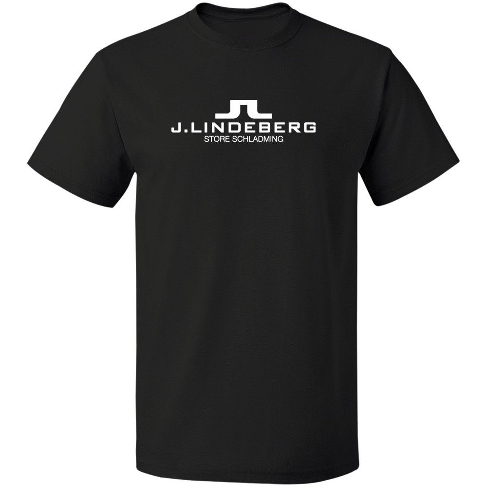 J Lindeberg Golfer Logo S-3XL 100% COTTON Tee FREE SHIPPING Clothing T Shirt O-Neck Teenage T-Shirt Newest 2018 Fashion ...