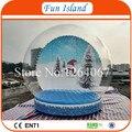 Бесплатная Доставка 4.5 м Диаметр Большой Снег Миру Снег Рождественская Елка Фон, реклама Выставка Открытый Снег Glob