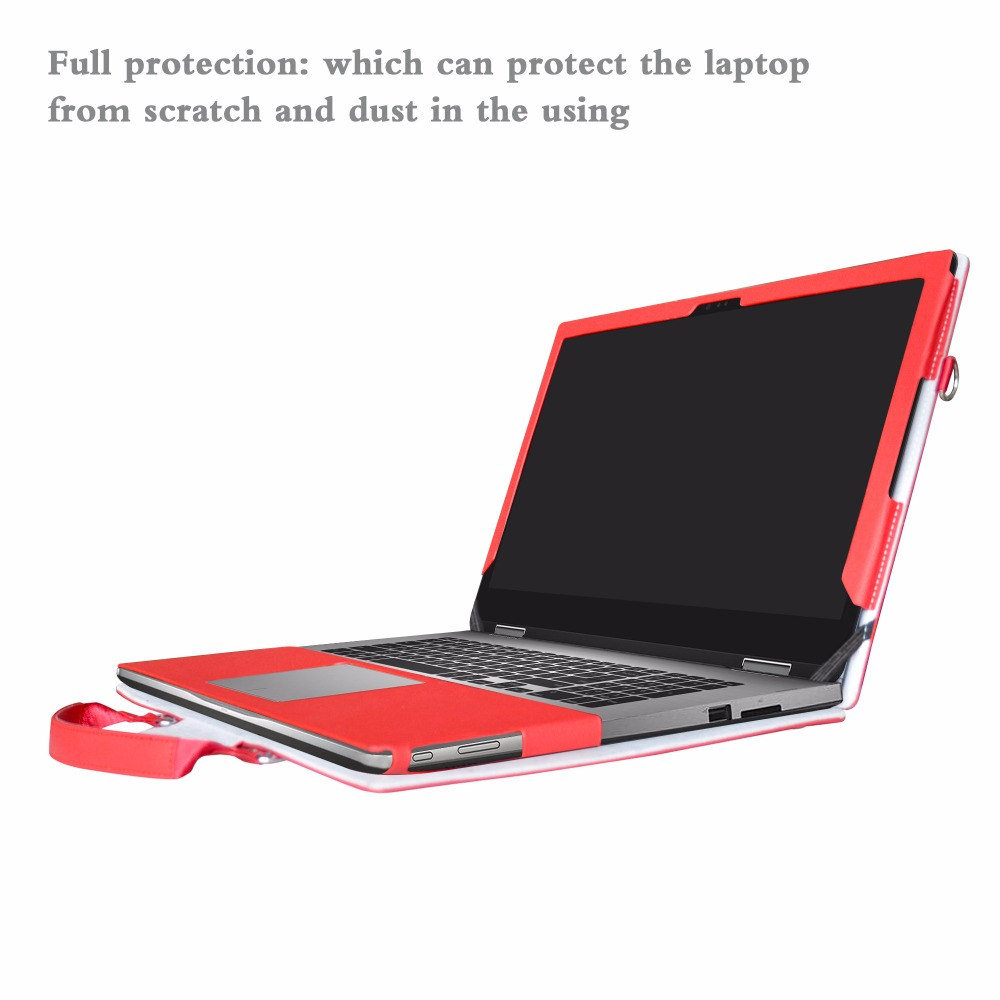 2 in 1 Accurately Designed Protective PU Leather Cover + Portable Carrying Bag For 13.3 Dell Inspiron 7353 7352 series Laptop