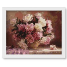 Pink Flowers Diamond Painting