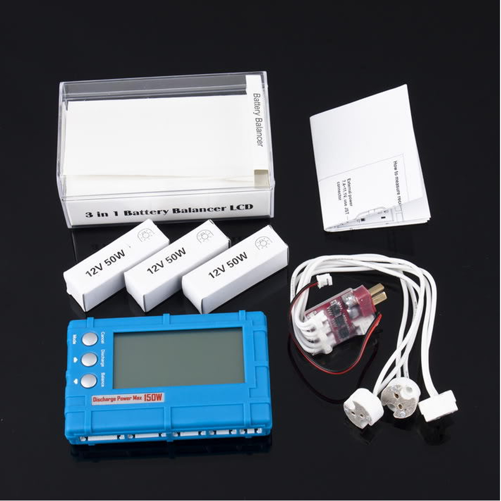 3 in 1 Battery Balancer LCD, Voltage Indicator, Battery Discharger 5W 50W 150W balancer