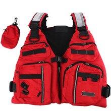Adjustable Adult Life Jacket Vest Fishing Aid Sailing Surfing Kayak Boating Outdoor Sports With Multi-Pockets Safe Fishing Vest