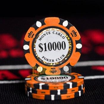 Jetons de Poker en céramique Style Monte Carlo