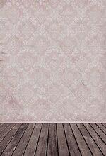 Laeacco Ретро Дамаск узор стены деревянный пол фотографии Фоны Винил Custom Камера фотографические фонов для Аксессуары для фотостудий