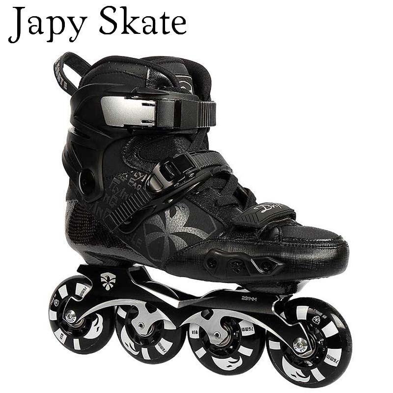 Prix pour Jus japy Skate 100% D'origine Flying Eagle Dérive Patins À Roues Alignées et 16 Hyper + G Roues Falcon Professionnel Rouleau De Patinage Chaussures Slalom