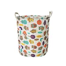 Waterproof Durable Lovely Animal Cotton Sheets Laundry Clothes Laundry Basket Storage Baskets Folding Storage Box wasmand A70(China)